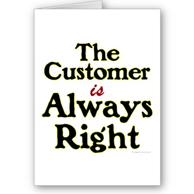 {focus_keyword} Pengalaman Berhadapan Pelanggan  customer is always right
